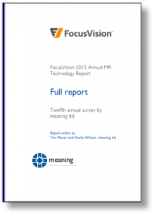 Cover image of the 2015 FocusVision mr technology report